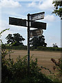 TL9670 : Roadsign on the C645 Walsham Road by Adrian Cable