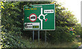 TL9370 : Roadsign on the A143 Bury Road by Geographer