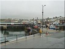 SC2484 : Trawler PL8 passing through the open footbridge by Christine Johnstone