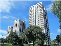 NZ2364 : Vallum Court, Westgate Court and Todd's Nook, Westgate Road, NE4 by Mike Quinn