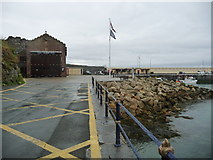 SC2484 : Peel lifeboat station, West Quay breakwater by Christine Johnstone