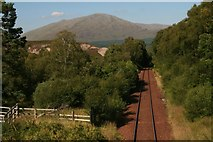 NN3578 : Northwards up the railway from Fersit by Chris