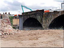 SJ8297 : Ordsall Chord Construction, Stephenson's Bridge by David Dixon