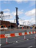 SJ8298 : Ordsall Chord Construction, Piling for New Bridge To Cross Trinity Way by David Dixon