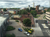 SP3378 : The view north from the six-storey Swedish shop, Victoria Road, Coventry by Robin Stott