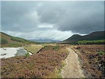 NN8596 : Footpath beside the River Feshie by Julian Paren