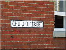 TM0890 : Church Street sign by Adrian Cable