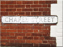 TM0890 : Chapel Street sign by Adrian Cable