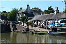 SP6989 : Canalside scene, Foxton Junction by David Martin