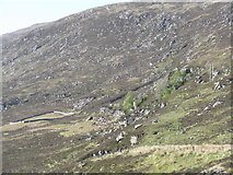 NH2276 : Rocky hillside with sheepfold by M J Richardson