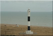 TR0916 : View of the modern lighthouse from the Old Dungeness Lighthouse by Robert Lamb