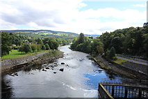 NN9357 : River Tummel from the walkway at the dam by Richard Hoare