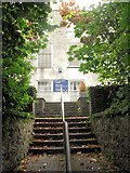 SX7962 : The steps from the Swimming Pool to the Foxhole School Building by Chris Reynolds