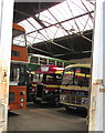 ST1167 : Old timers in the Bus Depot, Barry by Jaggery