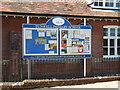 TM1292 : Bunwell Primary School Notice Board by Adrian Cable