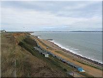 SZ2492 : Beach huts at Barton on Sea by E Gammie