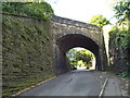 SE0726 : Old railway bridge over Brackenbed Lane, Halifax by Malc McDonald