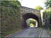 SE0726 : Old railway bridge over Brackenbed Lane, Halifax by Malc McDonald