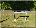 TM1494 : West Way sign by Adrian Cable
