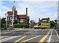 SU3002 : Yellow van in Brockenhurst by Jaggery
