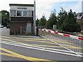 SU3002 : Barrier across Lymington Road level crossing, Brockenhurst by Jaggery