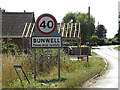 TM1393 : Bunwell Village Name sign on the B1113 Norwich Road by Adrian Cable