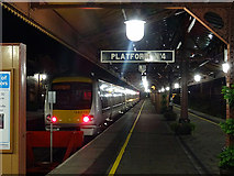 SP0786 : Platform 4 at Birmingham Moor Street Station  by John Lucas