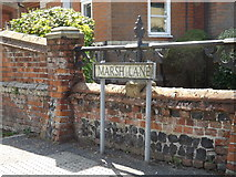 TM0890 : Marsh Lane sign by Adrian Cable