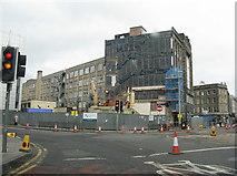 NT2473 : Building site at Fountainbridge by M J Richardson