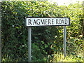 TM0790 : Ragmere Road sign by Adrian Cable