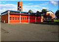 SJ7154 : Crewe Community Fire Station and training tower by Jaggery