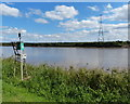 SE8312 : Navigation beacon along the west bank of the River Trent by Mat Fascione