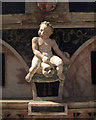 SP2656 : Charlecote: St Leonard - memento mori by John Sutton