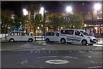 NS4864 : County Square taxi rank at night by Thomas Nugent