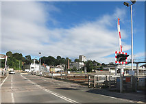 SX9193 : Level Crossing at Exeter St Davids Station by Des Blenkinsopp