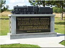 SK1814 : National Memorial Arboretum - The Railway Industry Memorial by Chris Allen