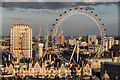 TQ3079 : London Eye and Former Shell Building from New Zealand House by Christine Matthews