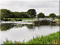 SP9067 : River Nene, Lower Wellingborough Lock and Weir by David Dixon