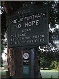 SK1583 : Peak & Northern Footpath Marker 95, How Lane, Castleton by SK53