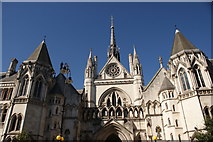 TQ3181 : View of the Royal Courts of Justice from Fleet Street #3 by Robert Lamb