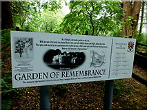 H4963 : Garden of Remembrance information board, Seskinore Forest by Kenneth  Allen