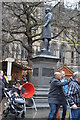 SJ8398 : Fraser's Statue, Albert Square by N Chadwick
