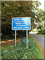TL9668 : Roadsign on Kiln Lane by Adrian Cable
