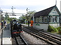 TR1534 : Hurricane waiting for the off at Hythe station by Marathon