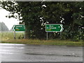 TL8967 : Roadsigns on the A143 Bury Road by Geographer