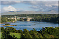 SH5471 : Menai Straits and the suspension bridge by Oliver Mills