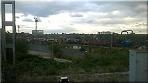 TQ2182 : Passenger and freight traffic at Willesden Junction by Christopher Hilton