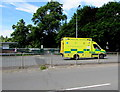 ST3089 : Yellow ambulance, Malpas Road, Newport by Jaggery