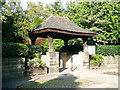 SE2837 : 'Lychgate' into Meanwood park, Leeds by Humphrey Bolton