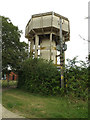 TL9669 : Stowlangtoft Water Tower by Adrian Cable